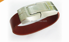wholesale promotional gift Leather bracelet usb Flash Drives 1gb 2gb 4gb 8gb 16gb 32gb