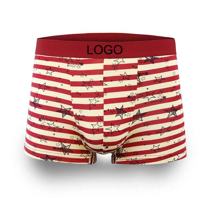 LOGO customized elastic band underwear for men