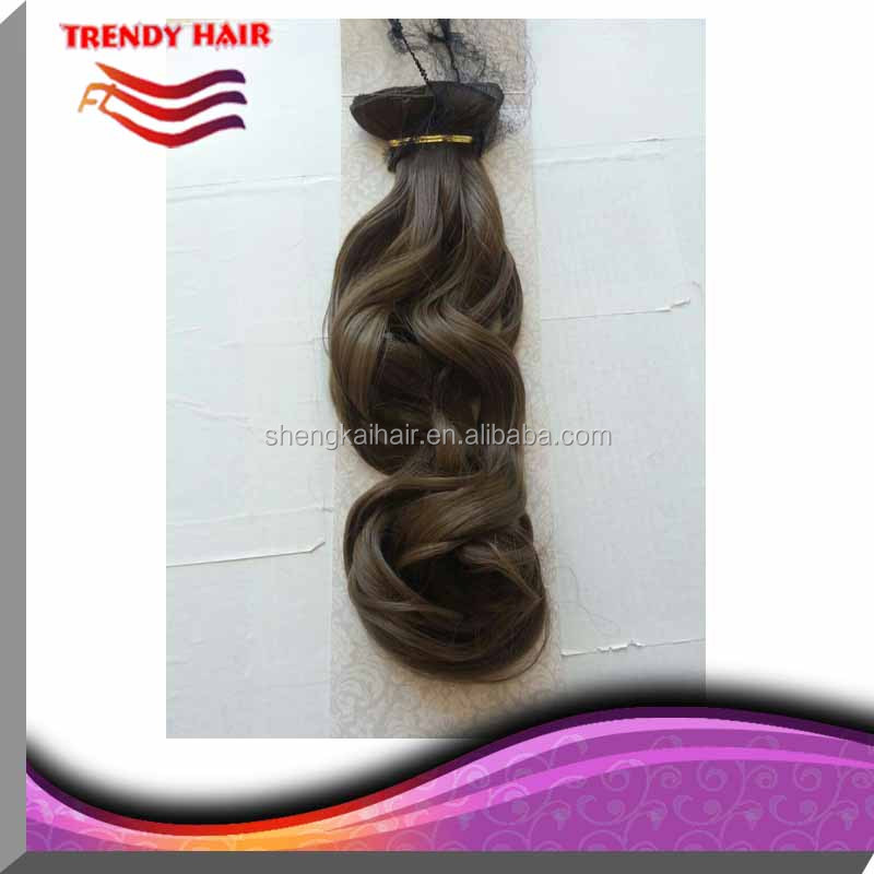 Quality synthetic hair clip in hair