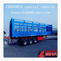 40ton loading capacity three 3 axle dry cargo trailer, truck trailers light design