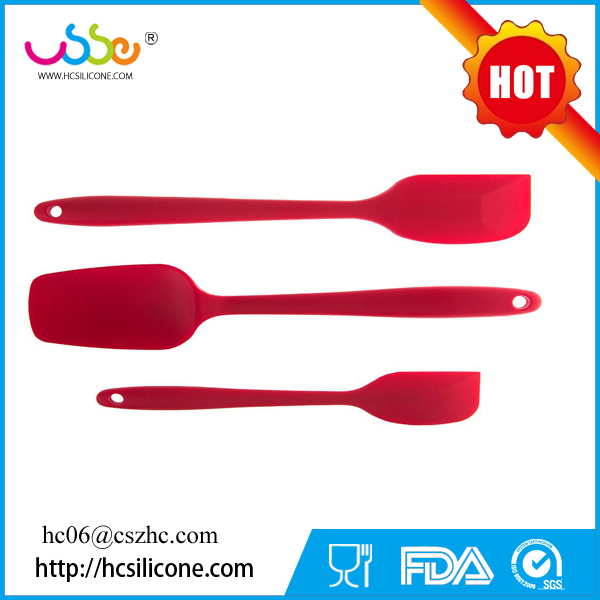 Hot selling baker spatula wholesale best plastic custom 3-piece sets private label stainless steel silicon spatula
