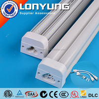 LONYUNG Patent 1-8ft 8-60w tuv met certified ip65 waterproof t8 to t5 lamp ad T5 LED Integrative Double Tube