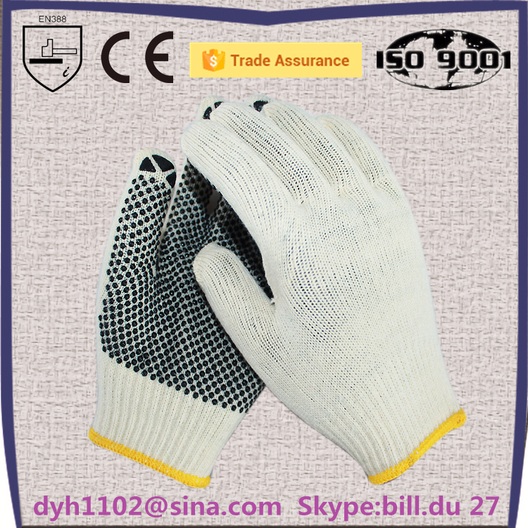 Safety Glove Manufacturers cheap white cotton gloves Dots