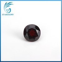 small sizes round natural cut loose natural garnet stone