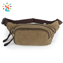 Factory price multifunction outdoor canvas running sports waist bag fanny pack waist tool bag