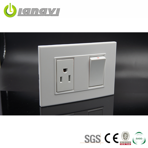 Hot Sale Residential universal Simple switch 15A socket American socket with single socket