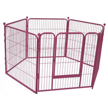 Tube foldable dog fence panels dog kennel