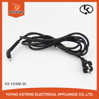 Korean 2 core ac power cable for hair straightener