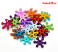 Cheap Wholesale 500PCs At Random Colorful Snowflake Acrylic Spacer Beads
