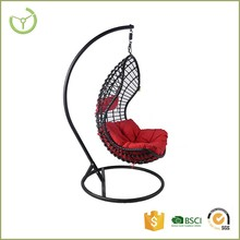 Rattan PE wicker outdoor funiture hanging egg chair