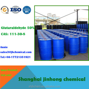 CAS 111-30-8 Glutaraldehyde 50% solution biocide from Jinhong Chemicals for Water Treatment