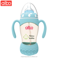 2018 new arrival albo brand wide neck PPSU 270ml baby feeding bottle with music