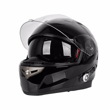 Helmet + Bluetooth Dual Visor, Modular/Flip-Up High Performance Motorcycle Helmet + Bluetooth Unit [DOT]