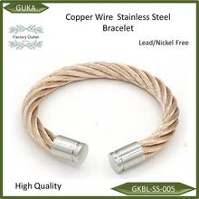 Copper Wire Bangle Stainless Steel cable jewelry Bracelet