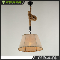 Loft American rustic style vintage industrial Trapezoidal linen pendant lighting