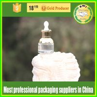 packaging 100ml transparent American nicotine-liquid glass bottle with black or white childproof &tamper cap