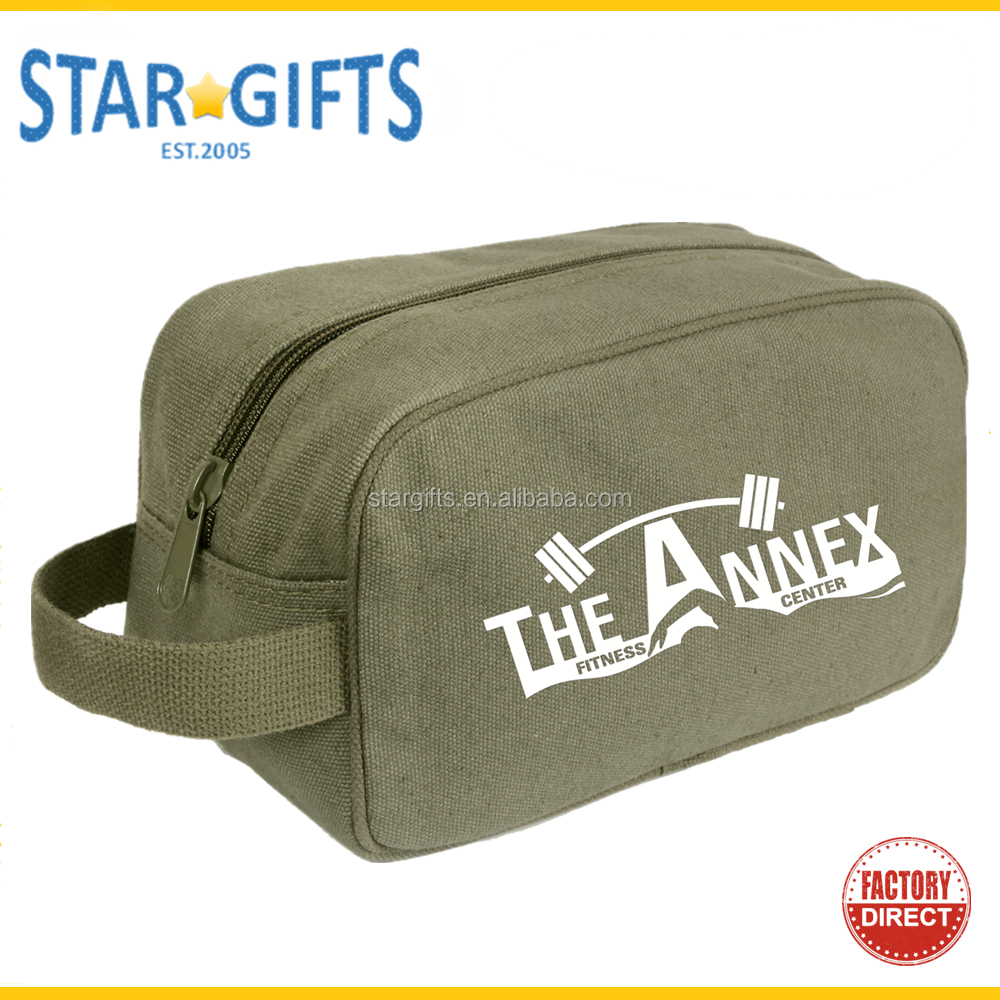 Deluxe Portable Mens Travel Cosmetic Canvas Toiletry Bag