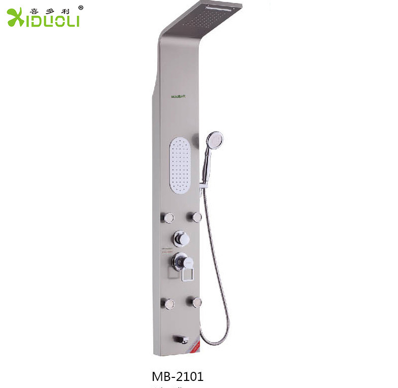 Bathroom New Aluminium Alloy Shower Panel with Adjustable Jets