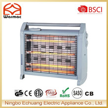 Popular item with 3 quartz elements infared heater /room heater/home electric heater 1500W