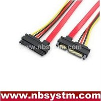 22pin SATA male to female cable, 7pin + 15pin SATA extension cable
