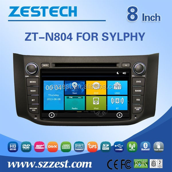 Auto electronics car stereo for Nissan Sylphy Telephone book,AUX IN,GPS,WIFI,3G