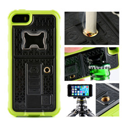 Factory direct sale with bottle opener cigarette lighter multifunctional phone case for Iphone 5