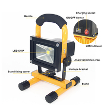 Goodlighting 10W wide angle IP65 wireless aluminum rechargeable led flood light