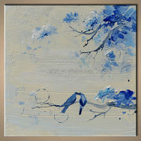 Newest Modern Handmade Painting Calligraphy On Canvas For Home Decor