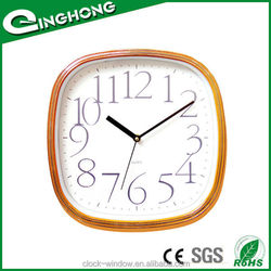 Customized clear glass wall clock design