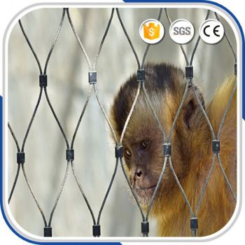 Excellent Flexible Animal Cable Wire Rope Woven Mesh For Zoo Lion Safety Protect