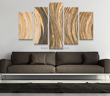 Abstract 5 Panel Handmade Oil Painting 3D Picture