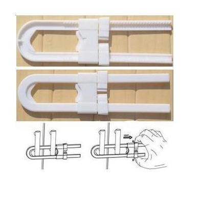 Child safety products baby safety lock split cabinet lock kitchen cabinet lock U type baby lock