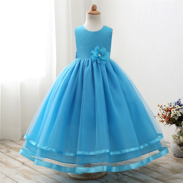 Western Latest Party Wear Bridesmaid Elegant Fashion Girl Dresses Long For Girls LP-62