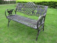Simple item cast iron park bench top quality garden bench on promotional