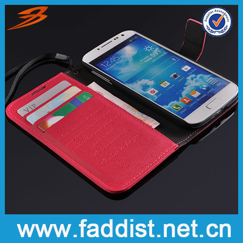 on sale for Samsung Galaxy S4 leather wallet case with card slot