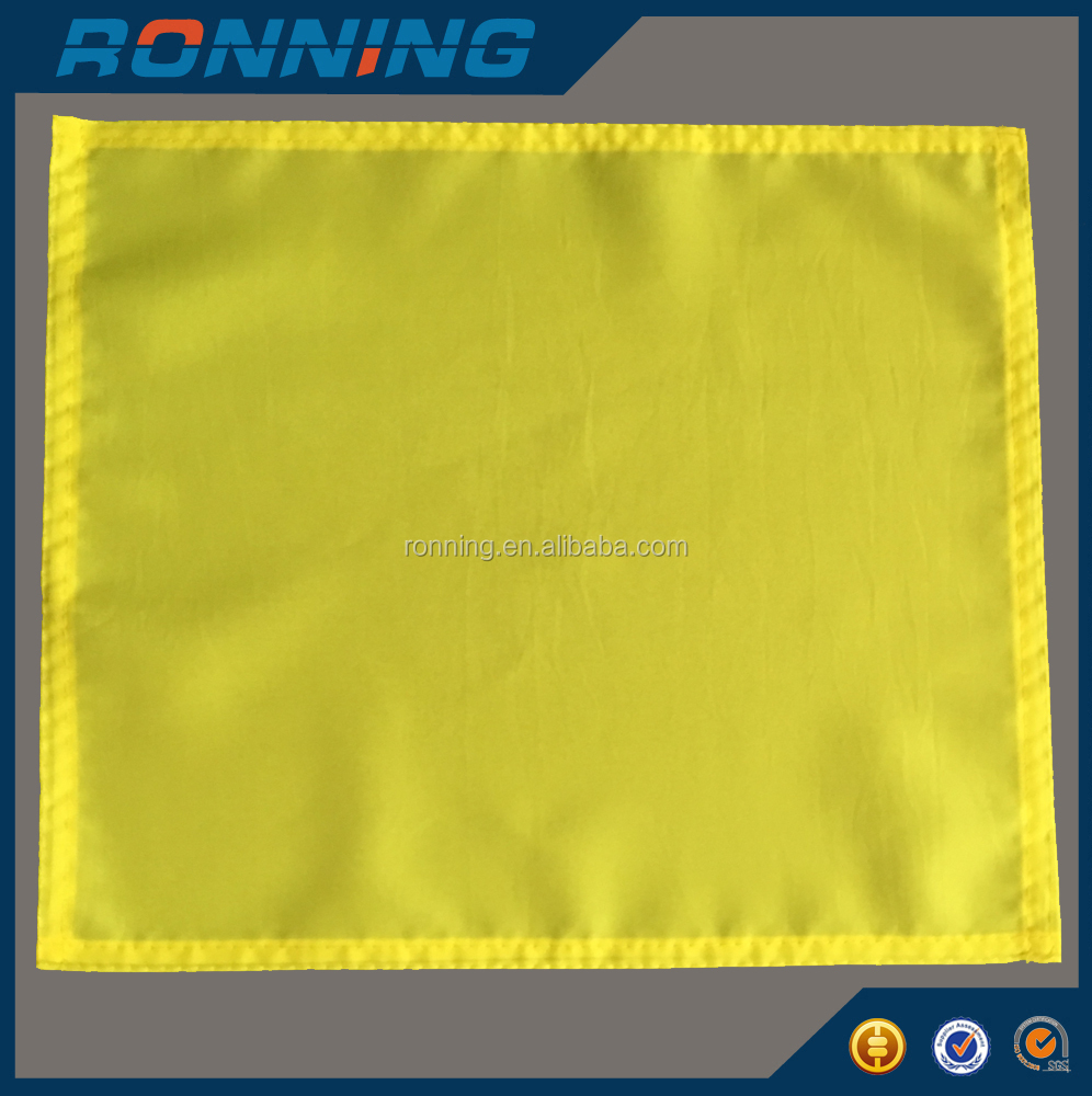 Mini square yellow umpire flags