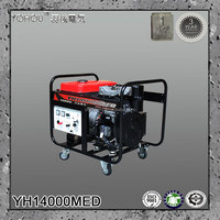 12kva electric portable diesel engine power generator set with permanent magnet alternator 220v