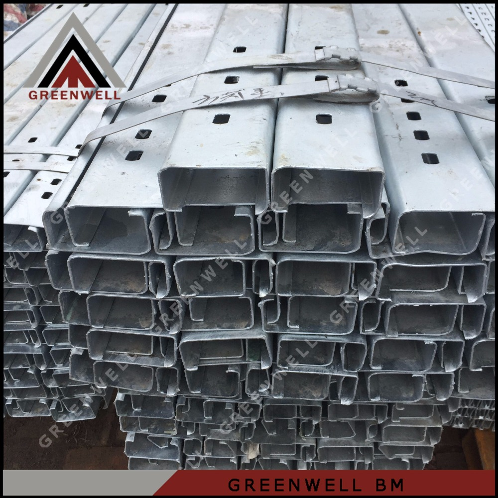 Steel profile galvanized steel construction profile c purlin