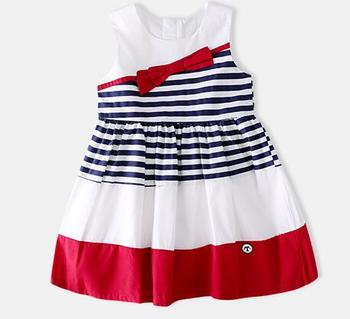 C80472B New summer 2018 girl's two-color dress vest dress with cotton