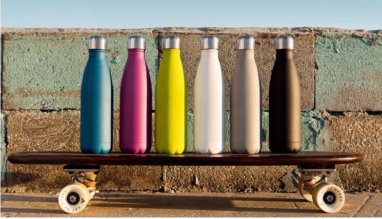 custom 700ml Vacuum Insulated Double Wall 304 Stainless Steel sport bottle