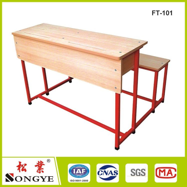 School High Quality School desk Student Single Study Desk And Chair Kids Reading Writing Table