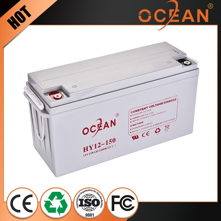 Best quality control new product promotion 100% pre-test 12V 150ah 12v lead acid battery