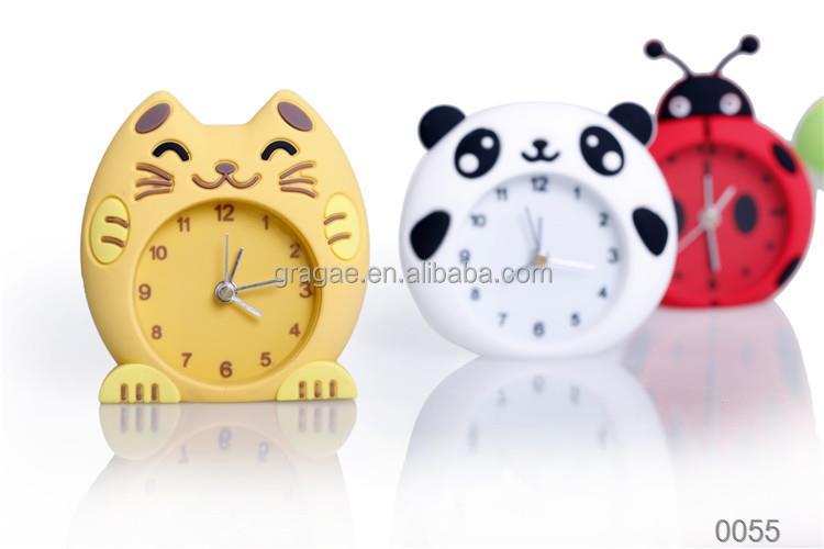 Custom Design kent table clock silicone Alarm clock