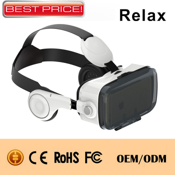 New product VR Headset 3D virtual Reality Video Glasses open movie by phone