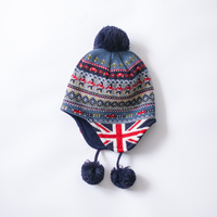 custom earflap beanie hat for children