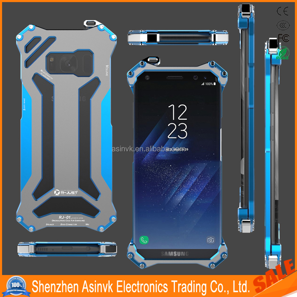 Original Rjust Gundam Metal Case Hybrid Defender Shockproof Aluminum Metal Protective Case For Samsung Galaxy S8