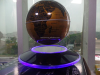 Customized LED lighting 8inch cheap gold magnetic levitation globe for sales