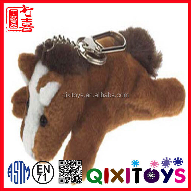 CE certificated plush stuffed animal wholesale mini plush horse keychain