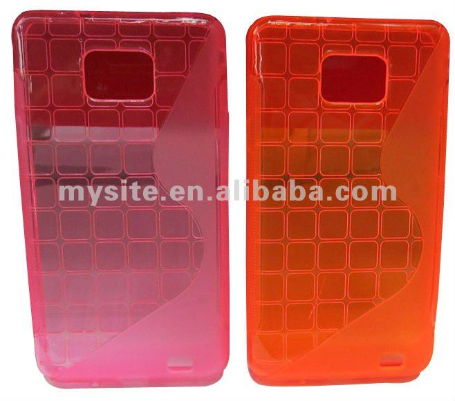 Custom Cell Phone S Cube TPU Case for Samsung Galaxy S2 i9100