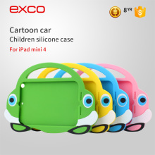 EXCO drop resistance portable durable carton car silicone 3d carton case for iPad mini 1 2 3 4
